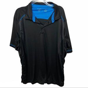 Antigua Golf Size XXL Xtra-lite Black Polo Shirt